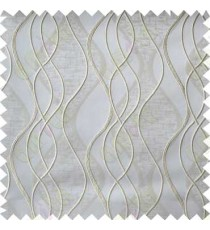 Beige Grey Vertical Flowing Waves Poly Main Curtain Designs